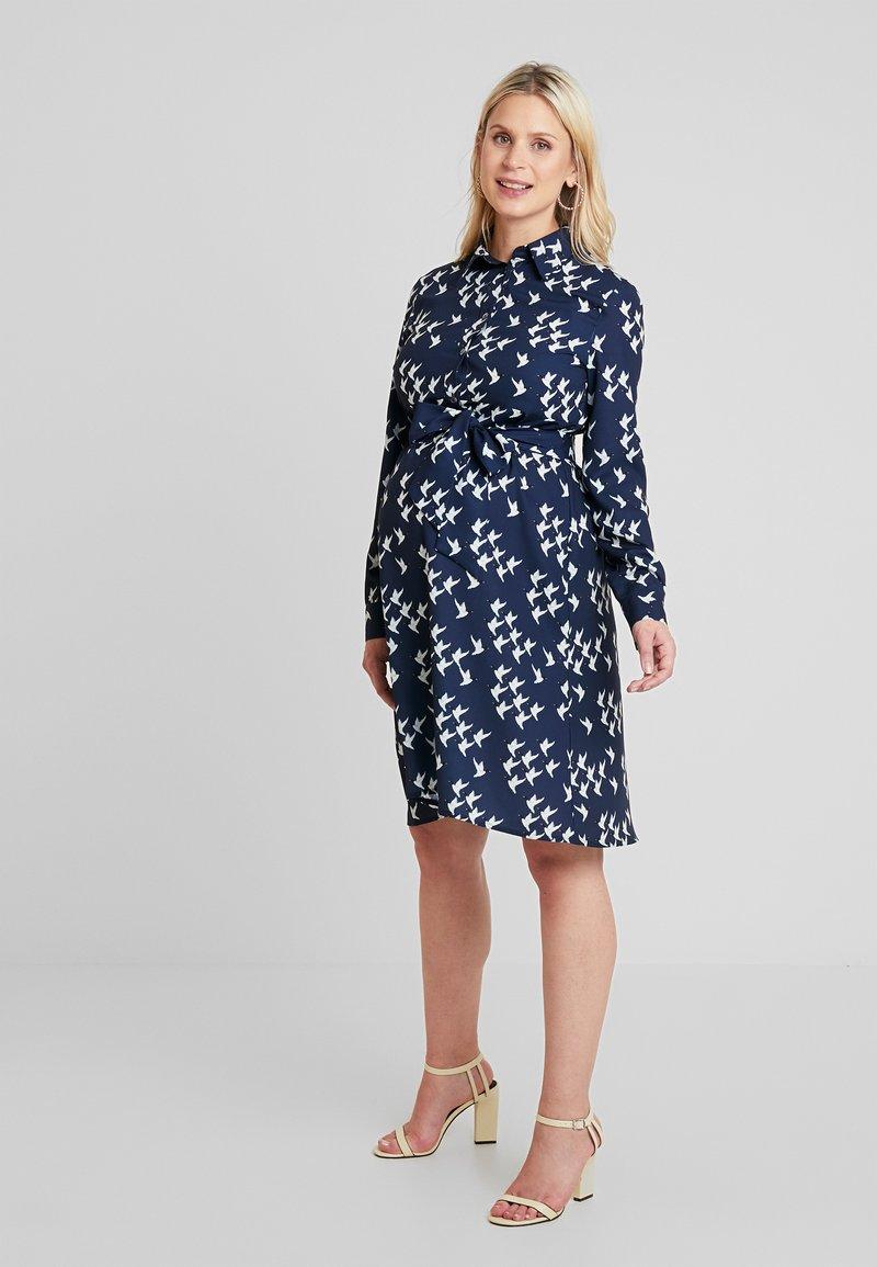 Pietro Brunelli - ANNE - Shirt dress - blue