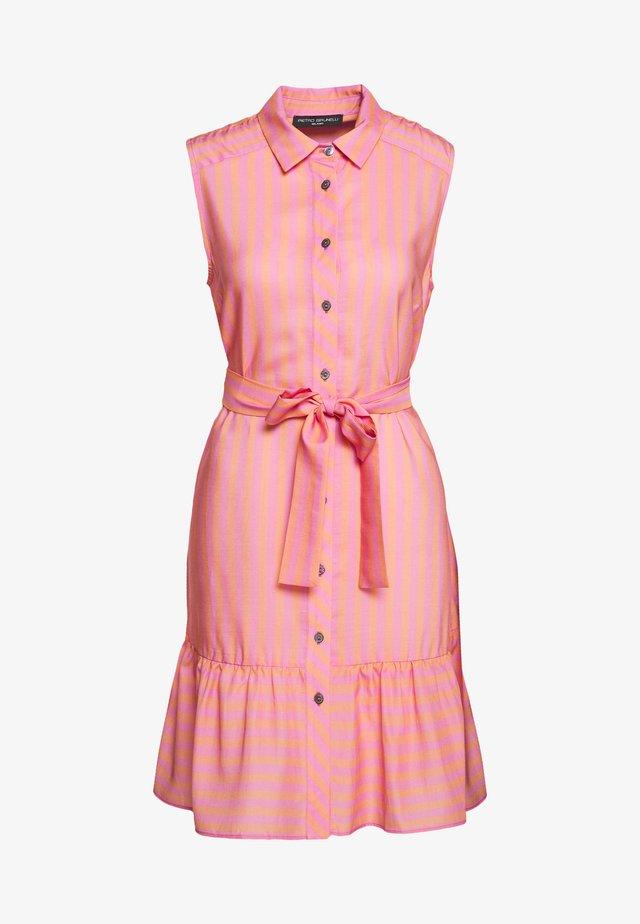 CAROLINA - Shirt dress - coral orange