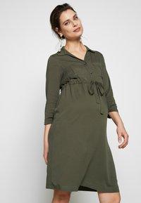 Pietro Brunelli - ISOTTA - Košilové šaty - dark sage - 0