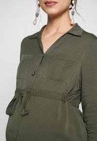 Pietro Brunelli - ISOTTA - Košilové šaty - dark sage - 4