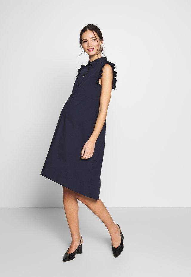 FLORA - Skjortekjole - dark blue