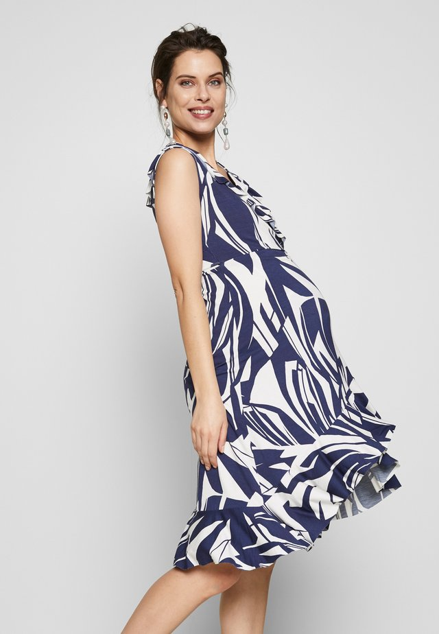 TULIPANO - Jersey dress - blue palms
