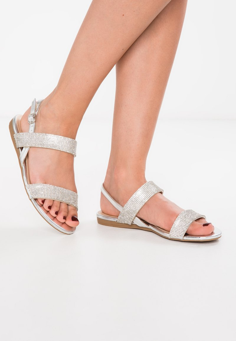 Paradox London Pink - NIRVANA - Sandals - silver metalic