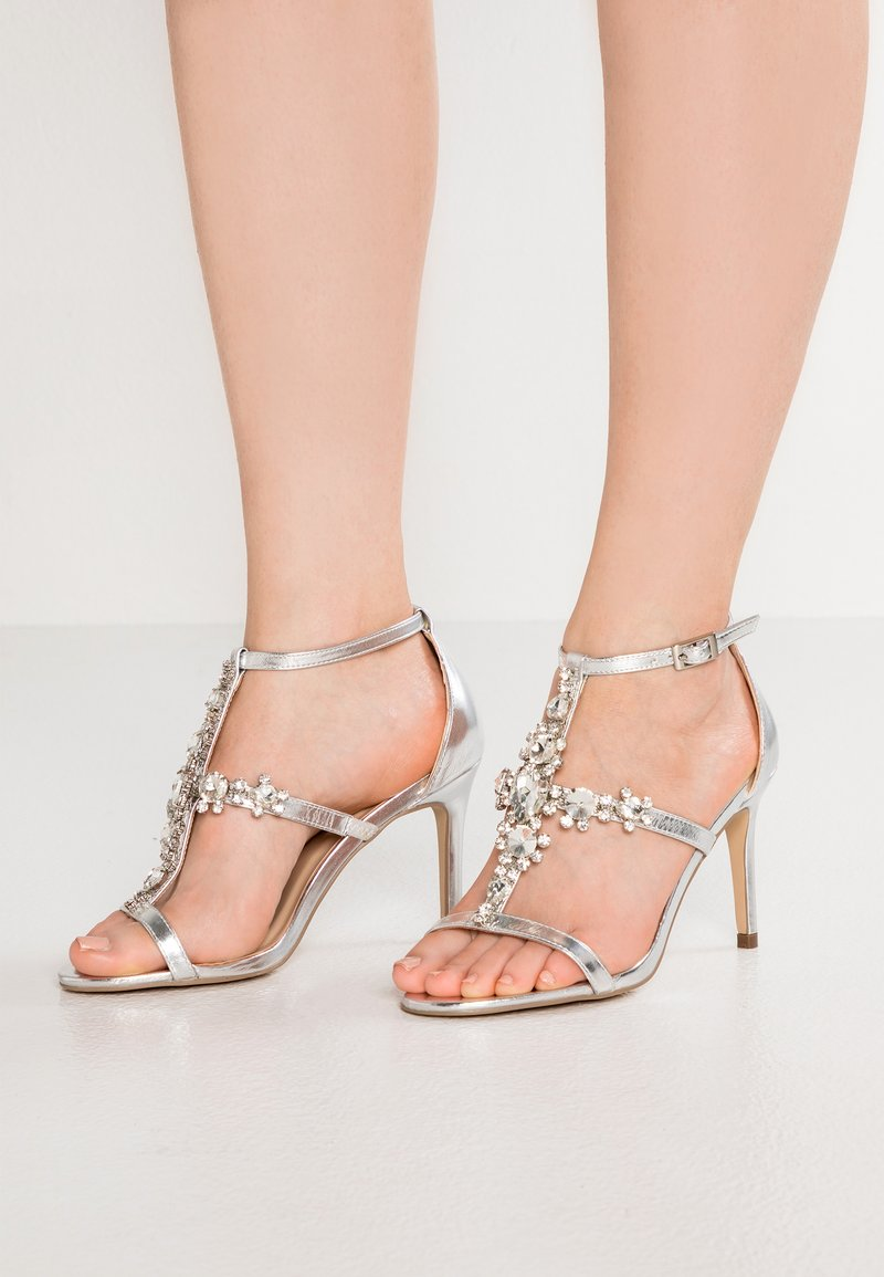 Paradox London Pink - STELLA - High Heel Sandalette - silver metallic