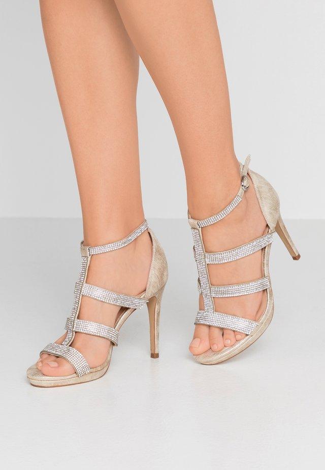 RAVEN - Højhælede sandaletter / Højhælede sandaler - champagne