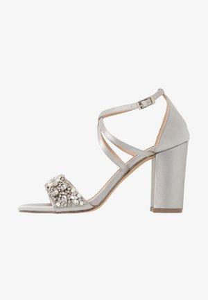HERLISA - High heeled sandals - silver