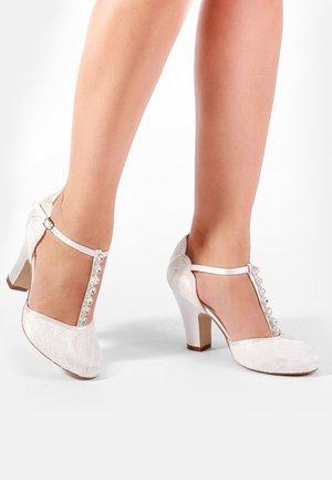 ADELIA - High heeled sandals - white