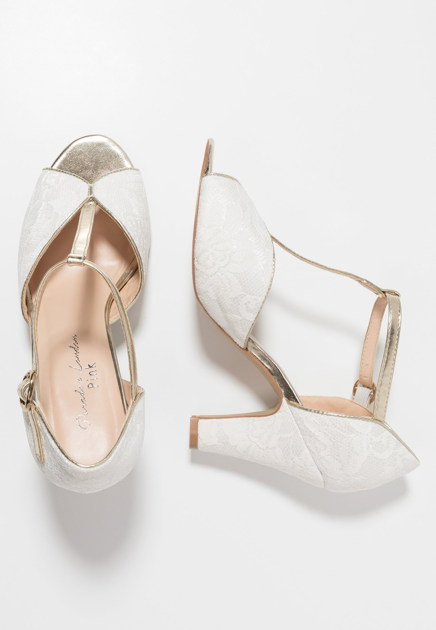 Paradox London Pink Quentin - Peeptoes Ivory