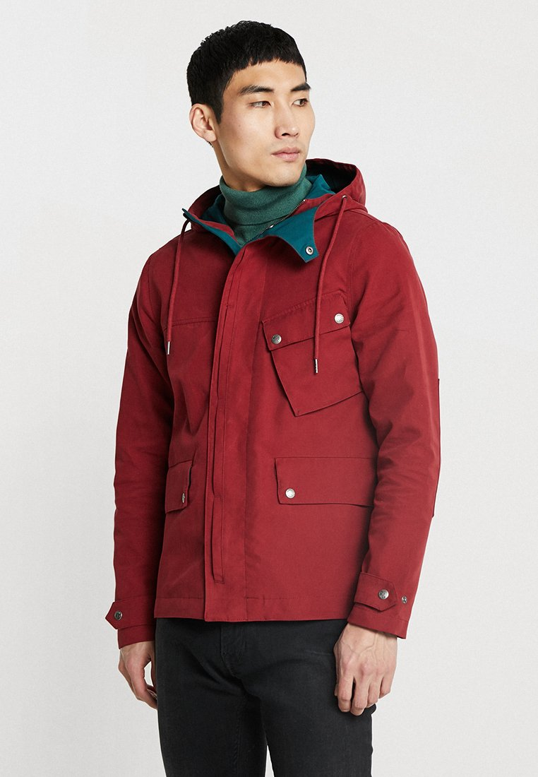 Pretty Green - MENS CONTRAST COLOUR HOODED JACKET - Summer jacket - red