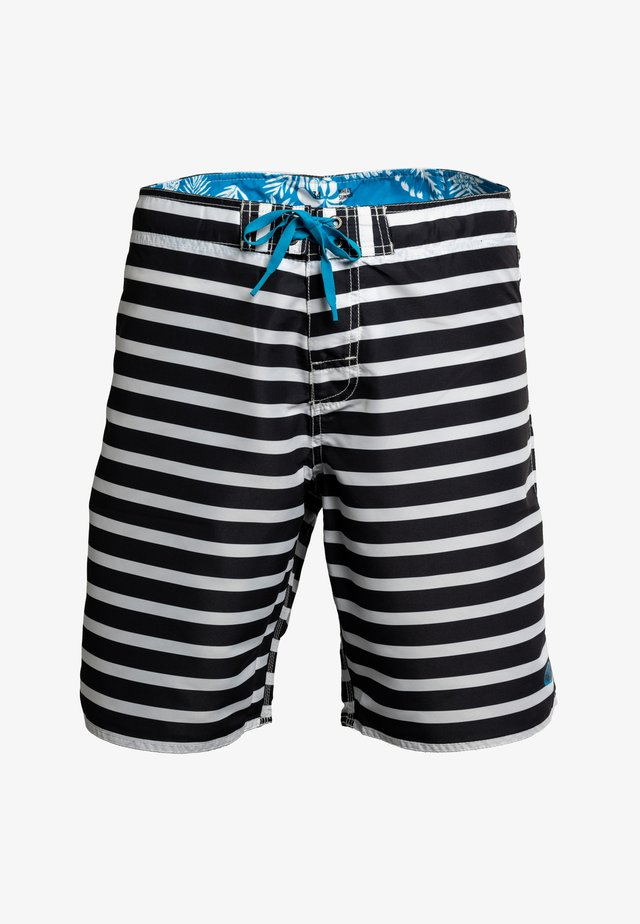 SANUR - Swimming shorts - black/white