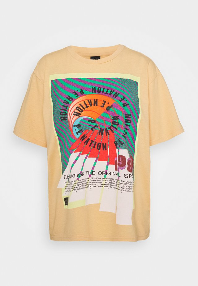 OVERHEAD TEE - T-shirt imprimé - orange pale