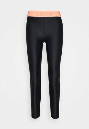 FRONT SIDE LEGGING - Leggings - black/coral