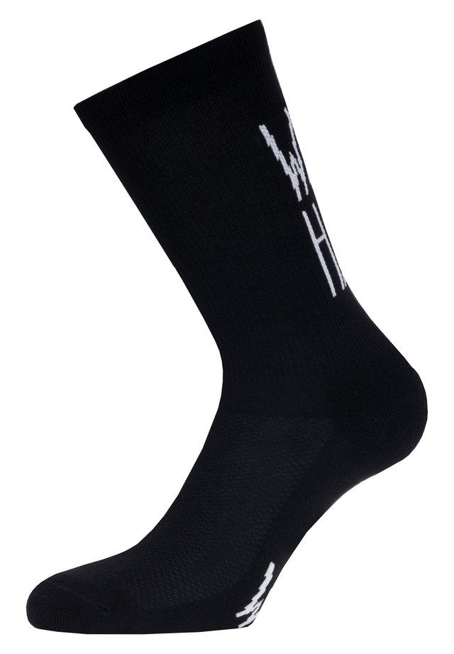WORK HARD  - Socks - black