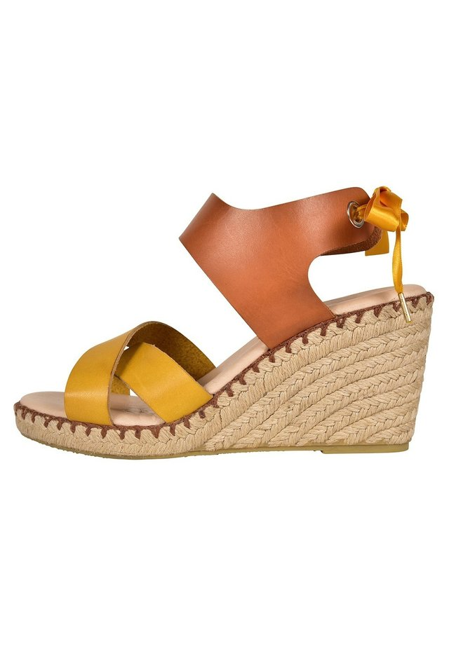 FIONA  - Wedge sandals - yellow