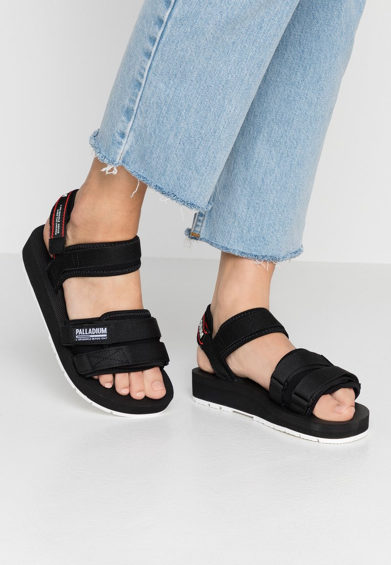 Palladium - OUTDOORSY - Sandals - black/salsa