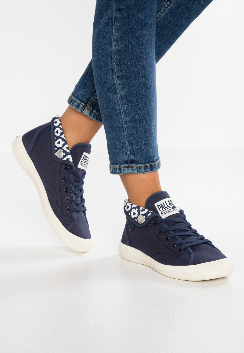 Palladium - AVENTURE - High-top trainers - mood indigo/marshmallow