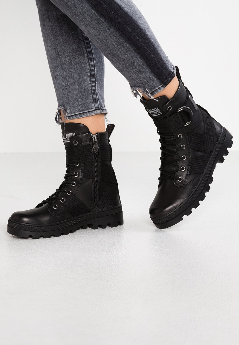 Palladium - Lace-up ankle boots - black