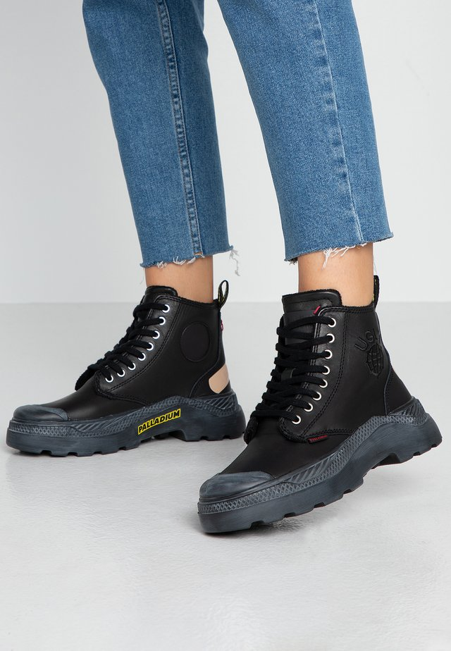 PALLAPALLAKIX HIGH UGLY - Lace-up ankle boots - black