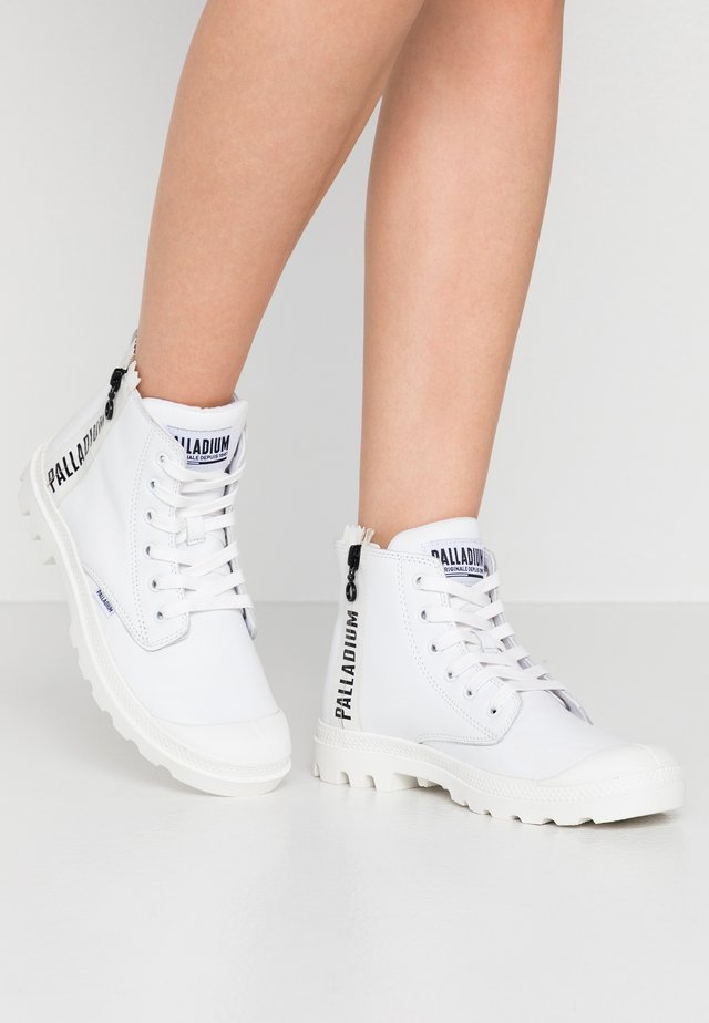 PAMPA ZIPS  - Lace-up ankle boots - white