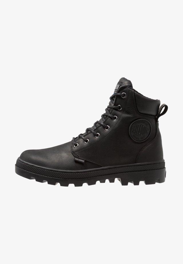 PALLABOSS SPORT CUFF WATERPROOF - Lace-up ankle boots - black