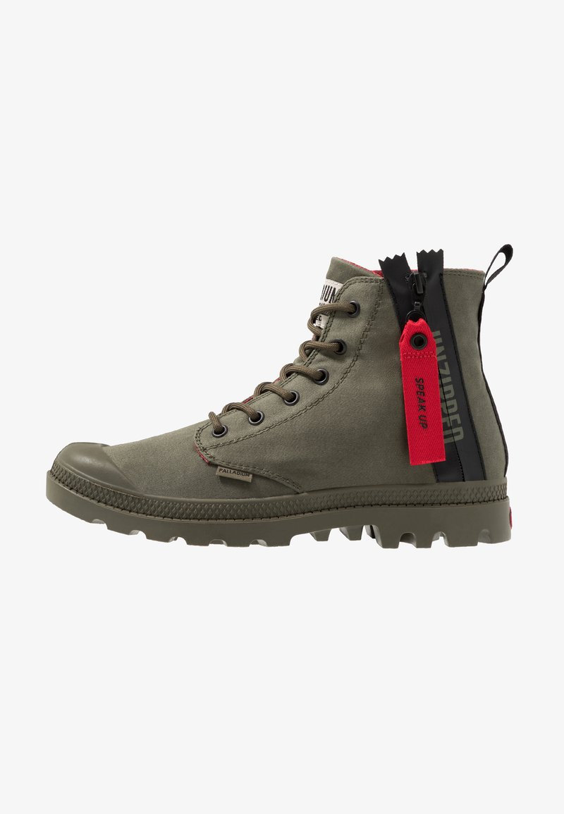 Palladium - PAMPA UNZIP - Lace-up ankle boots - olive night