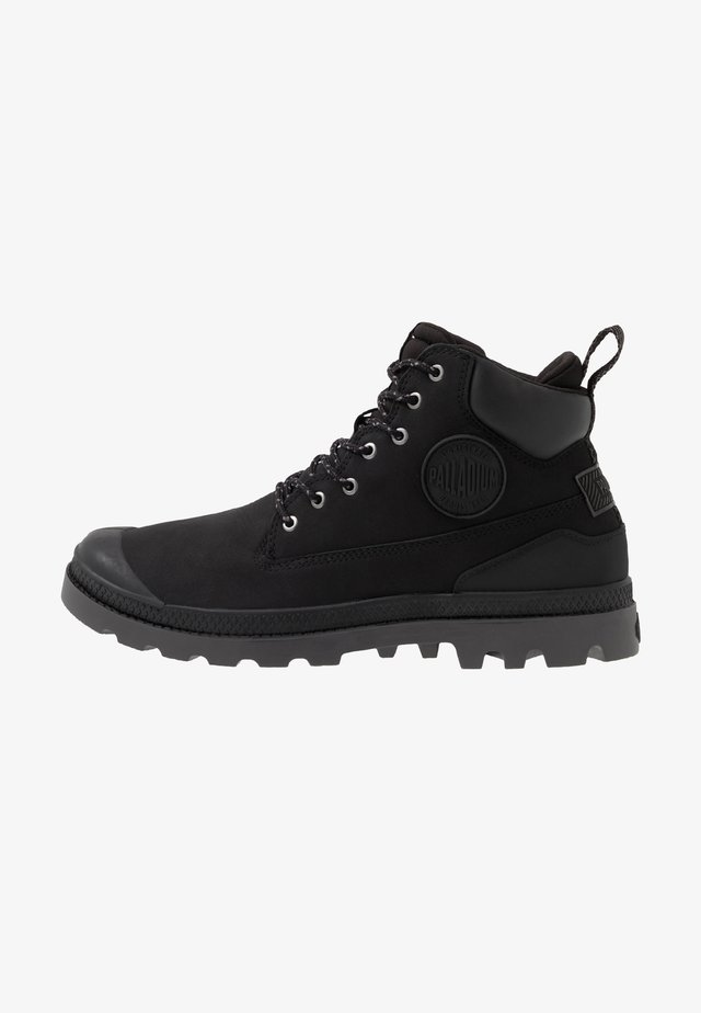 OUTSIDER WATERPROOF - Lace-up ankle boots - black