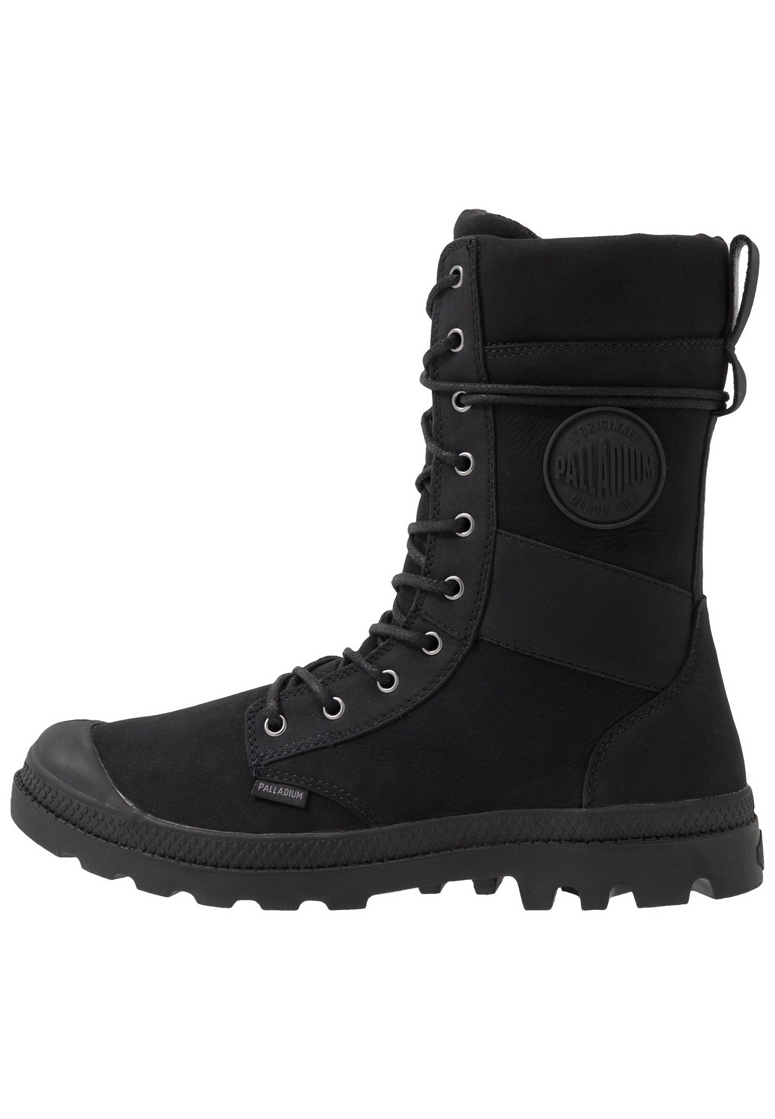 TACTICAL OFFICER LEATHER WATERPROOF Bottes à lacets black