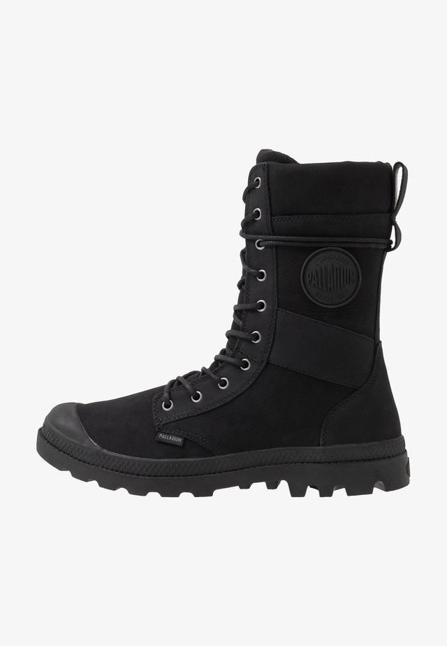 TACTICAL OFFICER LEATHER WATERPROOF - Bottes à lacets - black