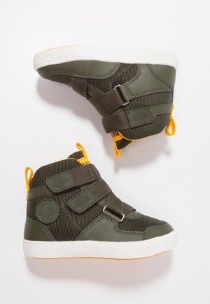 PALLASTREET MID - High-top trainers - olive night/gold