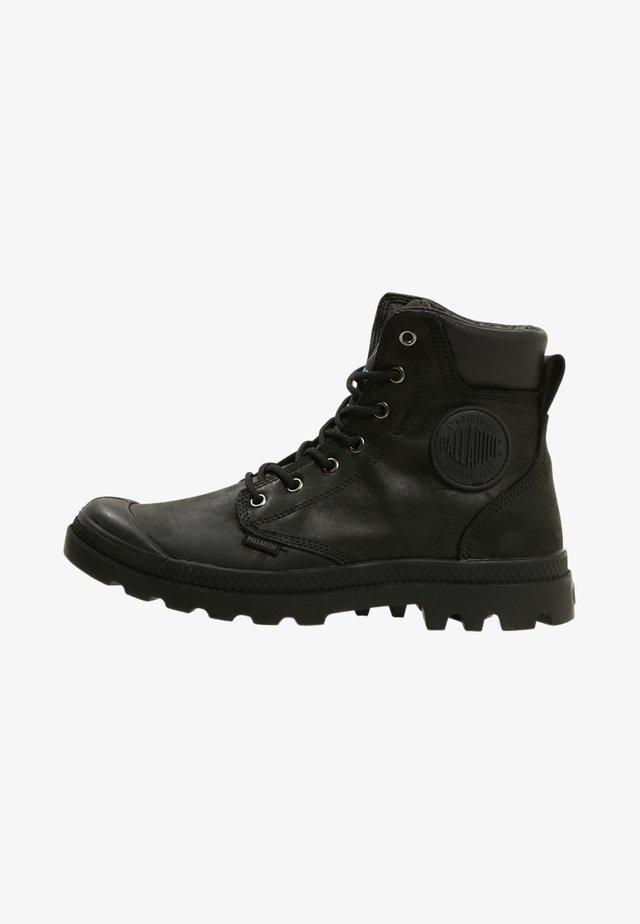 PAMPA SPORT CUFF WATERPROOF LUX - Lace-up ankle boots - black/black