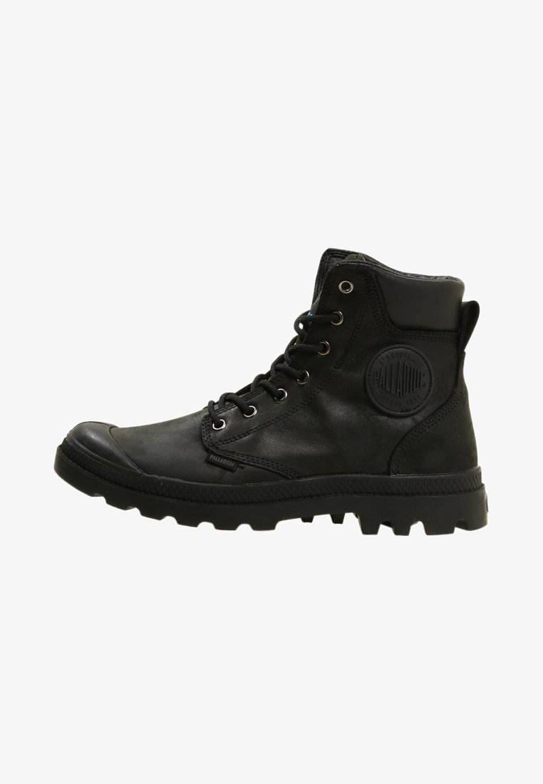 Palladium - PAMPA SPORT CUFF WATERPROOF LUX - Lace-up ankle boots - black/black