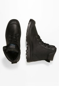 Palladium - PAMPA SPORT CUFF WATERPROOF LUX - Lace-up ankle boots - black/black - 1