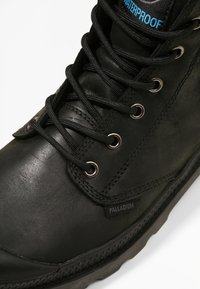Palladium - PAMPA SPORT CUFF WATERPROOF LUX - Lace-up ankle boots - black/black - 5