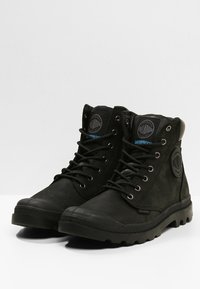 Palladium - PAMPA SPORT CUFF WATERPROOF LUX - Lace-up ankle boots - black/black - 2