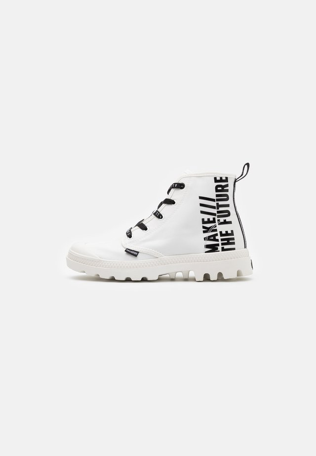 PAMPA FUTURE - Lace-up ankle boots - white