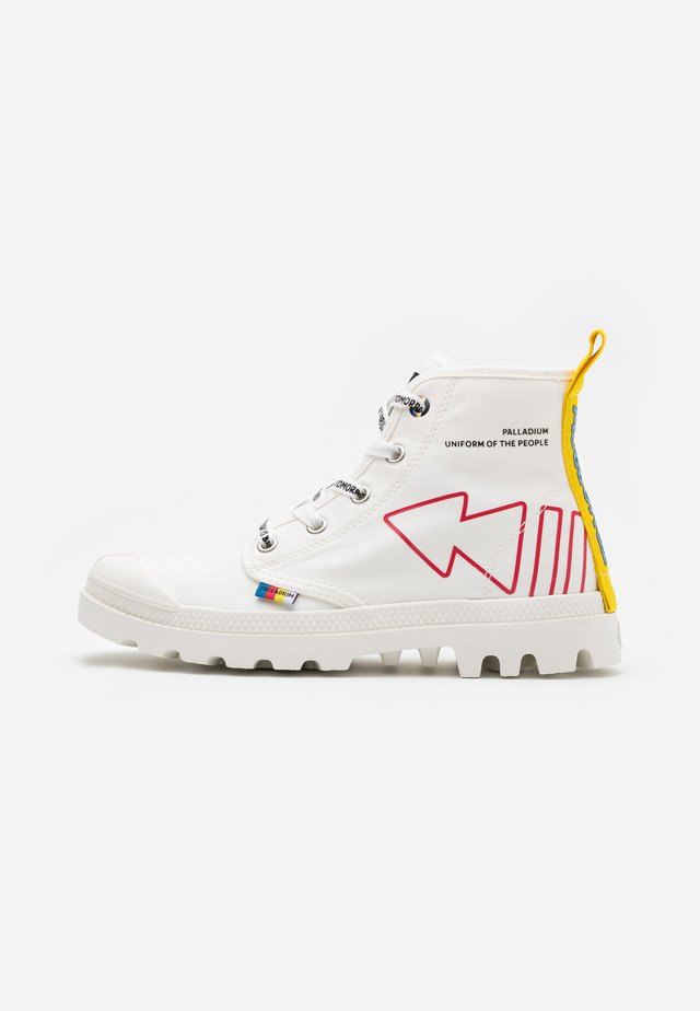 PAMPA DARE REW  - Lace-up ankle boots - star white