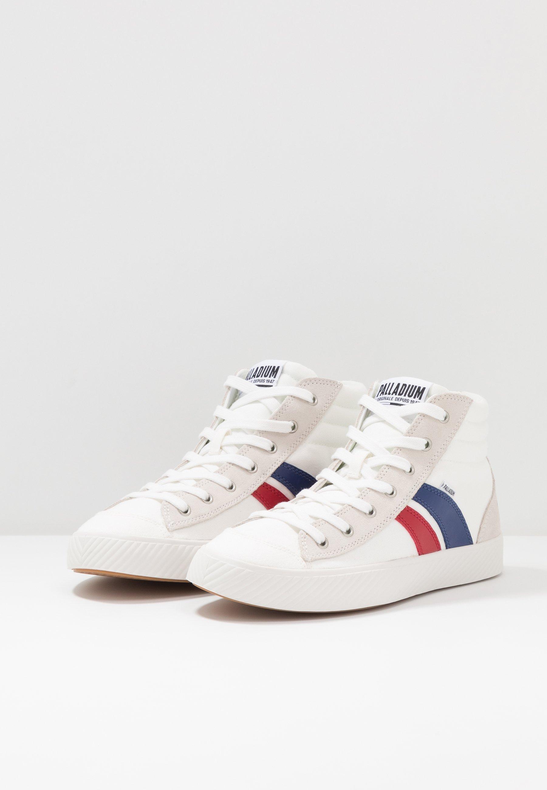 Palladium PALLAPHOENIX - Höga sneakers - star white