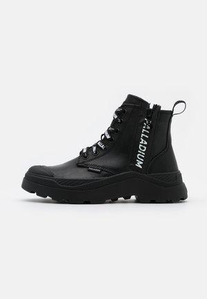 PALLAKIX ZIP - Korkeavartiset tennarit - black