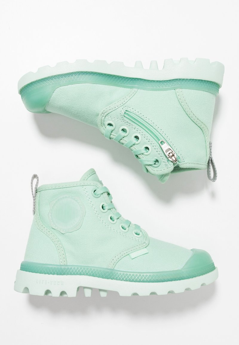 Palladium - PAMPALICIOUSK - Bottines à lacets - misty jade