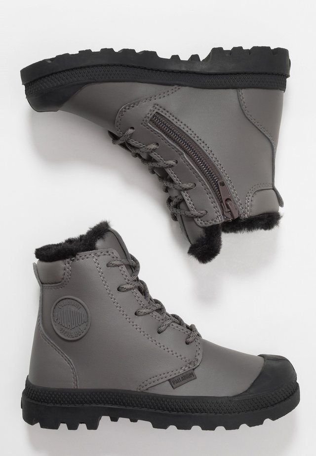 CUFF WP - Lace-up ankle boots - dark gull gray