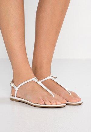 Sandaler m/ tåsplit - bianco