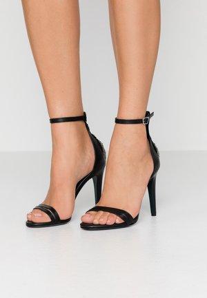 High Heel Sandalette - nero