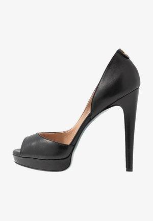 Høye hæler med åpen front - nero