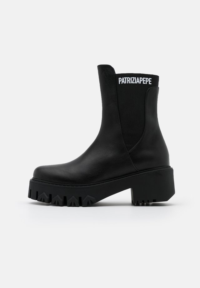 Platform ankle boots - nero