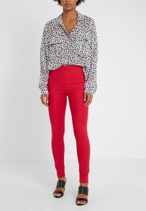 Trousers - red lipstick
