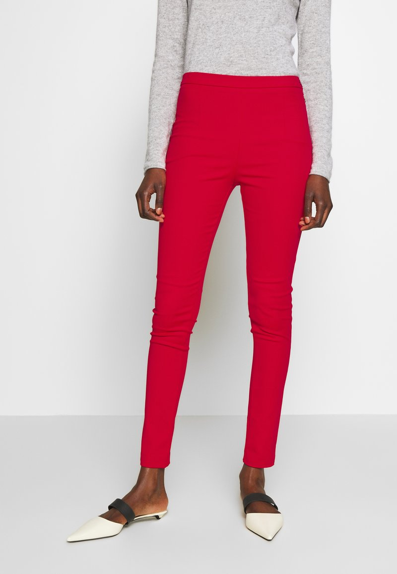 Patrizia Pepe - HIGH WAIST PANT - Bukse - flame red