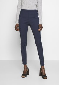 Patrizia Pepe - HIGH WAIST PANT - Trousers - navy - 0