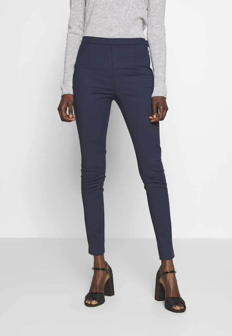 Patrizia Pepe - HIGH WAIST PANT - Trousers - navy