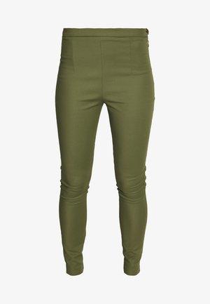 HIGH WAIST PANT - Pantalones - olive green