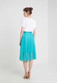 Patrizia Pepe - GONNA SKIRT - A-line skirt - turquoise - 2